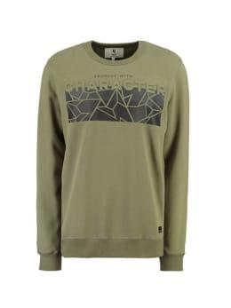 garcia sweater met opdruk h91264 groen