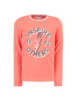 garcia t-shirt met lange mouwen i92402 rood