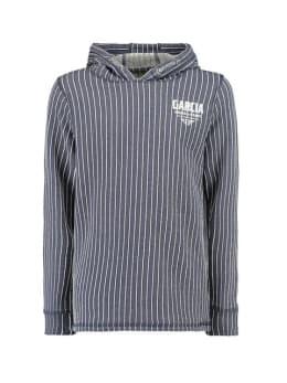 garcia hoodie g93407 gestreept blauw