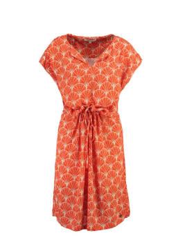 garcia jurk met v-hals ge900500 oranje