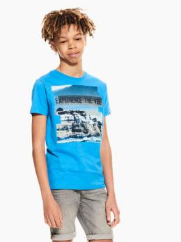 garcia t-shirt blauw p03600