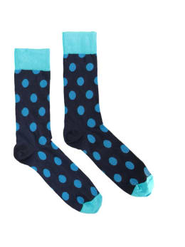 sokken Happy Socks big dot navy blue blue men