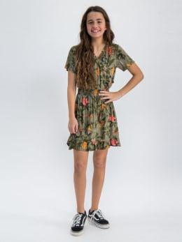 garcia jurk met allover print o02484 groen