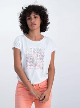 garcia t-shirt met tekstprint n00202 wit