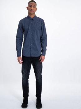 garcia overhemd met allover print l91026-2895 blauw