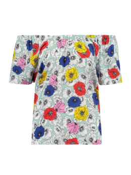 garcia shirt open schouder e90033 groen