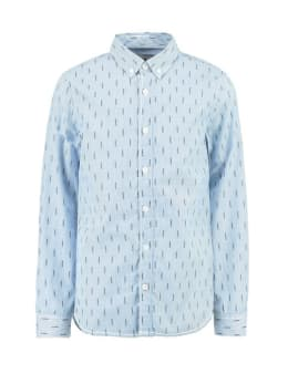 garcia overhemd g93431 gestreept blauw