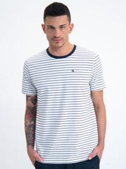 garcia gestreept t-shirt gs010102 blauw