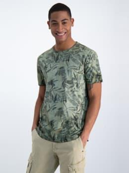 garcia t-shirt met allover print n01205 groen