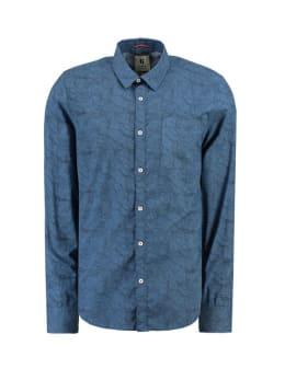 garcia overhemd met allover print g91025 blauw