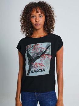 garcia top met opdruk pg900903 zwart