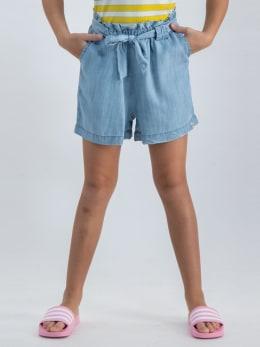 garcia paperbag short o02529 blauw