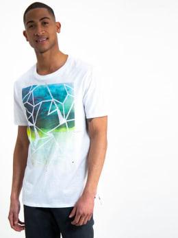 garcia t-shirt met opdruk h91203 wit