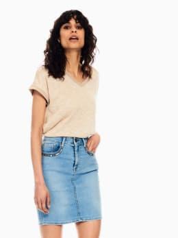 garcia t-shirt met glitter beige q00014