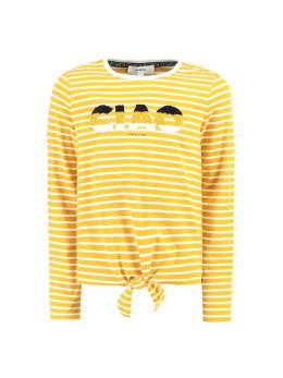 garcia t-shirt gestreept met tekst g92403 autumn