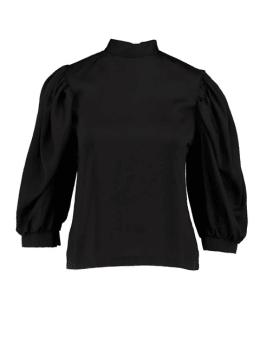 sisterspoint top met pofmouwen zwart