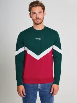wrangler sweater w6b1ikx51 rood-groen