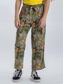 garcia wijde broek met allover print o02521 groen