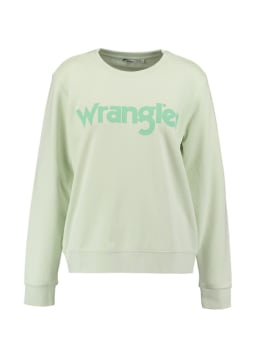 wrangler sweater mintgroen regular sweat