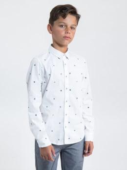 garcia overhemd met allover print l93632 wit