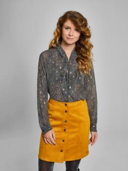 garcia suedine rok met knopen pg900105 geel