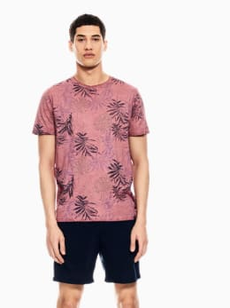 garcia t-shirt met allover print oudroze q01005