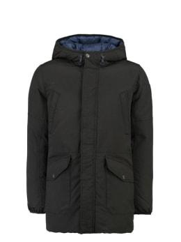 garcia omkeerbare winterjas gj930808 zwart en blauw
