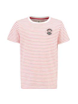 Garcia T-shirt Korte Mouwen PG930105 Rood Gestreept