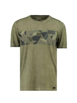 garcia t-shirt met opdruk h91206 groen