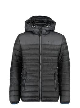 garcia puffer jas gj930801 zwart