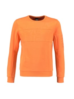 iconic crush denim sweater ohio oranje