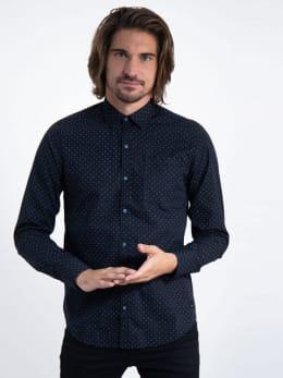 garcia overhemd met allover print j91234 zwart