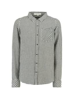 garcia geruite blouse h92631 zwart-wit