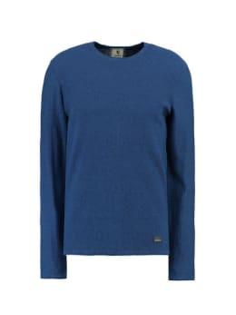 garcia trui met ronde hals gs910733 blauw