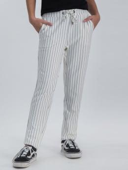 garcia jogger met strepen gs020104 wit