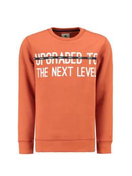 garcia sweater met tekst j93660 oranje