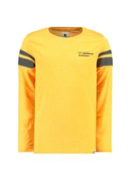garcia t-shirt met lange mouwen i93402 geel