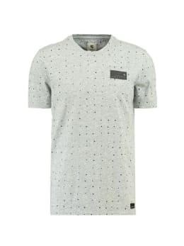 garcia t-shirt met allover print h91204 grijs