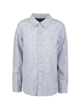 garcia overhemd met allover print n05431 blauw