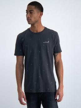 garcia t-shirt met allover print n01203 grijs