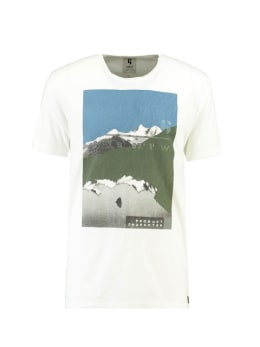 garcia t-shirt met opdruk j91204 wit