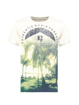 Garcia T-Shirt Met Fotoprint D93604 Wit