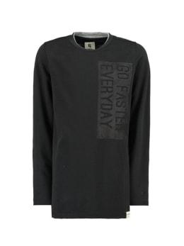 garcia shirt met lange mouw h93604 zwart