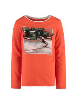 garcia shirt met lange mouwen I95401 oranje