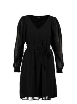 sisterspoint korte jurk met v-hals zwart