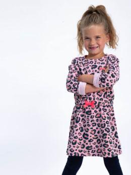 garcia jurk met print h94681 roze