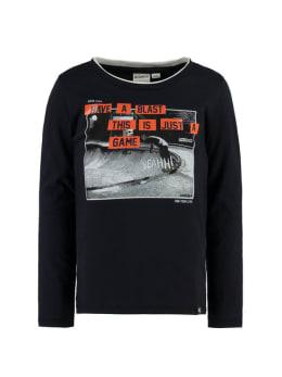 garcia shirt met lange mouwen I95401 zwart