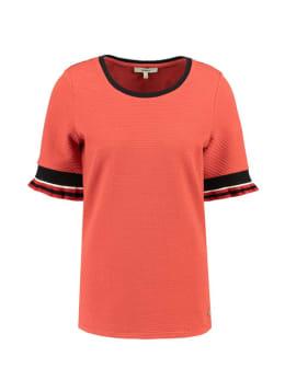 garcia t-shirt met ruffle mouwen G90013 rood