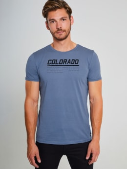 chief t-shirt met tekst pc910710 blauw