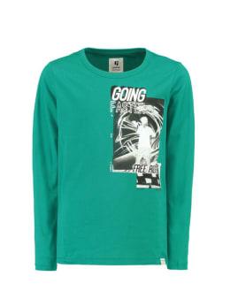 garcia shirt met lange mouw h93602 groen